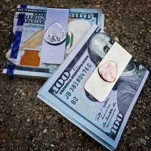 Coin Guitar Picks Money Clip Brass/Stainless Steel